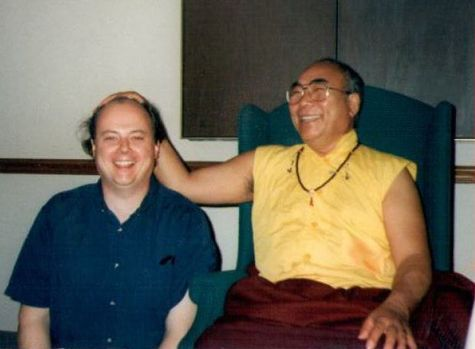 David Kenyon and Lama Lodu Rinpoche Smiling