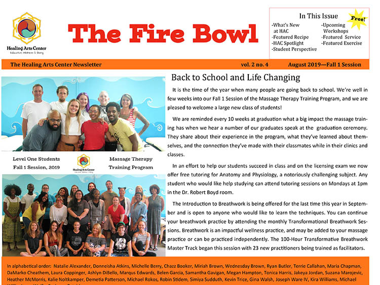Image of the cover of the Fire Bowl newsletter