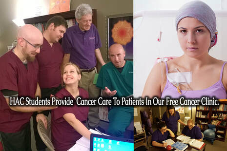 HAC Students Provide Cancer Care to Clients in the Free Cancer Clinic
